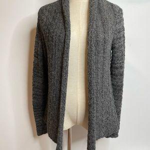 Indigenous s alpaca blend cardigan gray open front warm winter sweater gray dark